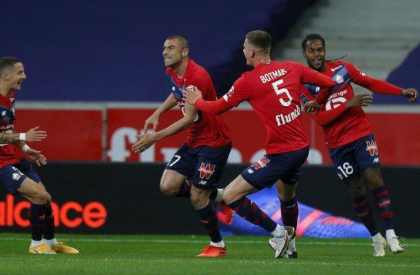 Ligue 1: Lille leader après avoir foudroyé Lens lors du derby